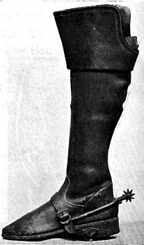 17th Century broad topped boot in the Victoria and Albert Museum