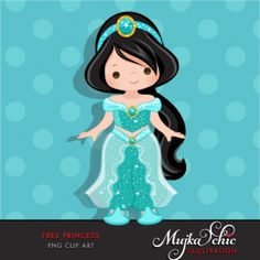 Free Princess Jasmine Clipart Cute character dressed up as a princess. Use this to make cards, printables or stickers. Disney Princess Jasmine, Aladdin And Jasmine, Jasmin Party, Clip Art, Disney Diy, Cute Characters, Art Wall Kids, Princesas Disney, Digital Stamps