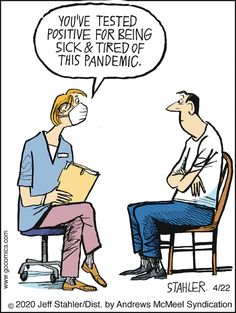 Moderately Confused by Jeff Stahler for April 2020 - GoComics Smiles And Laughs, Just For Laughs, Funny Quotes, Funny Memes, Hilarious, Funny Cartoons, Funny Signs, Laugh Out Loud, Corona