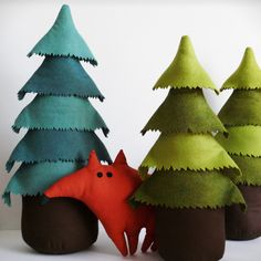 Christmas tree - Little interior tree - Green - Free shipping. $80.00, via Etsy. Too spendy for me but so cute and inspiring!