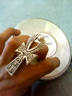 http://www.soptah.com/blogs/ptahrchive/tagged/large-ankh-ring. Custom made rings. Awesome website.