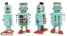 Ralph Robot - Blue Radar Robot Tin Toy Collectible by Robot Tin Toys Mr Roboto, Real Robots, Tin Man, Automotive Art, Tin Toys, Tv Commercials, Vintage Toys, Kids Room, Metal