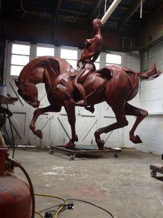 Sophie Dickens Sculpture bronze 9 ft high