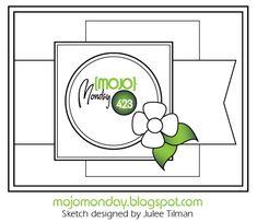 Mojo Monday 423 Sketch Sketch designed by Julee Tilman #mojomonday #vervestamps #cardsketches #sketchchallenge