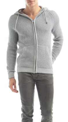 by White Picket Fence  Men's Hooded Grey Full Open