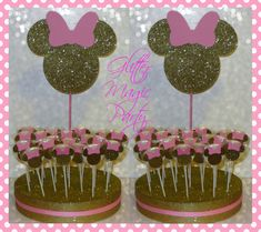 Welcome to Glitter Magic Party Minnie Mouse Table, Minnie Mouse Baby Shower, Mickey Mouse Clubhouse Birthday, Minnie Mouse Pink, Minnie Birthday, Minnie Mouse Party, Mouse Parties, Minnie Maus Cake Pops, Birthday Party Decorations