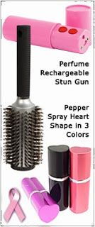 Help Fight Breast Cancer With Non-Lethal Weapons From WomenOnGuard.com   Through the first part of Breast Cancer Month, we will focus on 13 products we sell, for which a portion of the proceeds, goes to fight the disease.  #12:  Women's Self Defense Package
