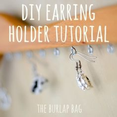 A super easy DIY earring holder tutorial.