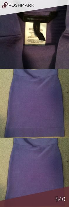 NWT BCBG MAX AZRIA Power Stretch Miniskirt NWT BCBG MAX AZRIA Power Stretch Miniskirt In Purple size XS BCBGMaxAzria Skirts Mini