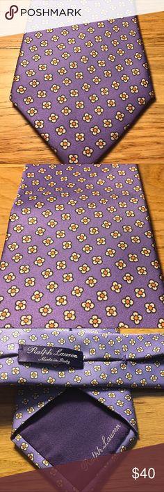 Ralph Lauren Silk Tie Perfect for spring or summer. 100% Silk Ralph Lauren Purple Label Accessories Ties
