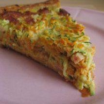 Tarte à la carotte, courgette et lardons - Recette de Tarte à la carotte, courgette et lardons - Magicmaman.com
