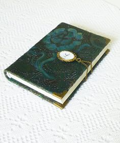 Personalized Journal Turquoise Leather Diary by AnnaKisArt on Etsy