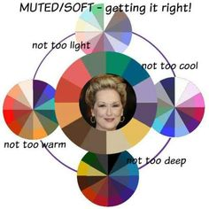 The MUTED color family #color analysis #Muted color family #Meryl Streep http://www.style-yourself-confident.com/color-analysis-muted.html