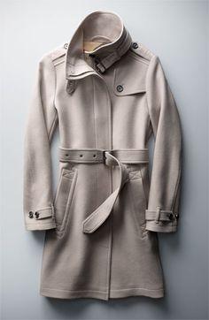 Burberry Brit 'Rushworth' Belted Wool Blend Coat