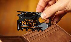 Идея для подарка: Кредитная карта-мультитул Ninja Wallet  Компактный и сверхпрочный инструмент, который не превышает размеров кредитной карты. Совмещает в себе аж 18 предметов: несколько шестигранных отверток, открывалку для бутылок и консервный нож, несколько разнообразных отверток и другое.  #подарок #муж #парень #путешествия #туризм #холостяк #дядя