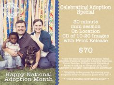 Courtney Lockhart Photography is spreading some National Adoption Month love!  With an amazing mini session special!  Based in Las Vegas, and available to travel.