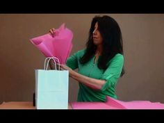 THE BEST WAY to add tissue to a bag is here! Learn a super quick way to add tissue paper to a gift bag or shopping bag for a beautiful presentation! Tissue Paper Decorations, Tissue Paper Wrapping, Tissue Paper Crafts, Creative Gift Wrapping, Creative Gifts, Wrapping Ideas, Paper Gift Bags, Paper Gifts, Decorated Gift Bags