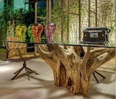 Wonderful Tree Stump Furniture Ideas Tree Stump Tables - Custom Furniture For High-End Interior Design Wonderful Tree Stump Furniture Ideas. Tree stump tables are prized for many reasons, not the least of which is their Read Tree Stump Furniture, Trunk Furniture, Tree Stump Table, Tree Table, Custom Furniture, Furniture Ideas, Dinning Room Tables, Dining, Rough Wood