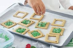 The kids will love helping to make these spectacular stained glass effect biscuits. They make gorgeous Christmas presents for friends, family and the favourite teacher.