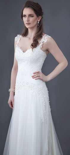 $155.59-A-Line Appliqued Sleeveless Long Lace&Tulle Wedding Dress With Open Back. http://www.ucenterdress.com/a-line-appliqued-sleeveless-floor-length-spaghetti-lace&tulle-wedding-dress-with-low-v-back-and-brush-train-pMK_700940.html.  Free Custom-made & Free Shipping! Shop lace wedding dress, strapless wedding dress, backless wedding dress, with sleeves, mermaid wedding dress, plus size wedding dress, We have great 2016 best Wedding Dresses on sale at #UcenterDress.com today! #wedding…