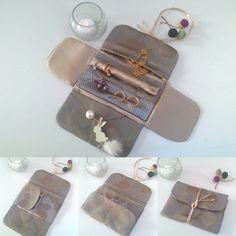 Trousse pour bijoux, étui de rangement à compartiments pour ses bijoux, pochette repliable de voyage, idée cadeau femme, trousse multipoches de la boutique AuZizileBazar sur Etsy