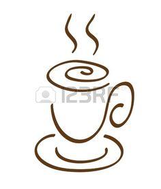 El dibujo de una taza de café