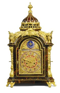 GBP - A large gilt-mounted tur. GBP – A large gilt-mounted turtleshell musical tab… Antique Clocks : SOLD. GBP – A large gilt-mounted turtleshell musical table clock for the … -