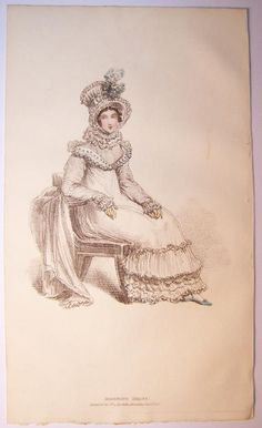 White gown. 1815 Belle Assemblee
