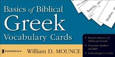 Basics of Biblical Greek Vocabulary Cards (Zondervan Vocabulary Builder Series, The) by William D. Mounce. $11.55. Series - Zondervan Vocabulary Builder Series, The (Book 2). Author: William D. Mounce. Publisher: Zondervan (November 4, 2004). Reading level: Ages 18 and up