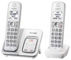 Quickly see who's calling with Guided feature tutorials are available for this cordless phone on the manufacturer's website. Panasonic DECT Expandable Cordless Phone with Answering Machine and Smart Call Block - 2 Cordless Handsets - (White). Smart Ca, Cordless Telephone, Telephone Call, Phones For Sale, Phone Companies, Thing 1, Caller Id, Home Phone, Cool Things To Buy