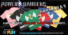 Power Rangers T-Shirt Contest (04/06/2017){??} via... IFTTT reddit giveaways freebies contests