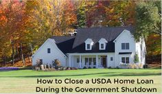 Options for those who are closing a USDA Home Loan during the Government Shutdown, besides just waiting for Washington to figure it out Government Shutdown, First Time Home Buyers, Home Buying, Closer, Cabin, Mansions, House Styles, Inspiration, Home Decor