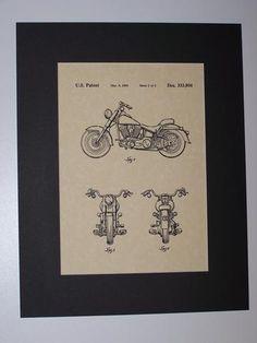 Harley MC 1993 sheet 2 Patent Drawing Motorcycle Harley Davidson