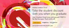 Adobe Creative Cloud- Limited Time Special Student Deal