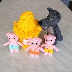 Поросята и волк, сказка вязаная, кукольный театр – купить в интернет-магазине на Ярмарке Мастеров с доставкой - EVBADRU