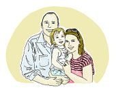 Custom Family Portrait: Hand Drawn Digital Portrait for Anniversary / Memorable gift (5x7 post card size)