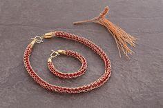 Statement Gold Jewelry Sets, Dark Red Swarovski #jewelry @EtsyMktgTool http://etsy.me/2i7IYSZ