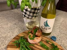 Colchester Ridge Estate Winery 2018 Chardonnay w Bacon-Wrapped Brussels Sprouts. Thick Cut Bacon, White Cheddar Cheese, Essex County, Complete Recipe, Caesar Salad, Creamy Sauce, Brussels Sprouts, Bacon Wrapped, Balsamic Vinegar