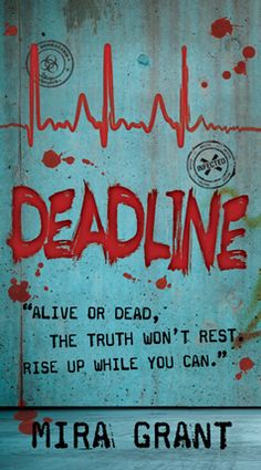 """This is a really cool Trilogy that puts a whole new spin on the zombie virus.   I've read the 1st two and can't wait for the third.  The first book is Feed (as in RSS feed) and you can see the title of the second one """"Deadline"""".  Definitely check it out!"""