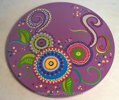 Lazy Susan 5 Hand Painted 18 Diameter Swirls and by LisaFrick