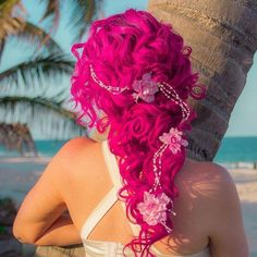 Hair styles Hair styles best 10 dyed hair style –Trend and Peanut Styleindie scene style Hair Dye Colors, Cool Hair Color, Crimson Hair, Pelo Multicolor, Color Fantasia, Coloured Hair, Rainbow Hair, Pretty Hairstyles, 50s Hairstyles