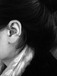 Got a new piercing, it's the one up in my ear. #piercing #new #silver