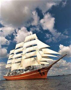 "Tall Ship Race 2004, ""The Skibene Forlader Aalborg"""