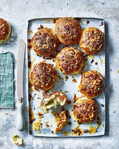 These brioche buns are surprisingly easy to make and smell amazing as they bake in the oven. They're light and buttery with a gooey cheese centre
