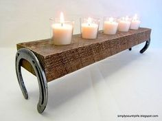 country decorating ideas, home decor, repurposing upcycling, Using Horseshoes via Simply Country Life