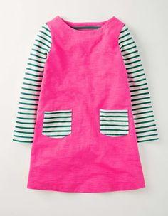 Foxglove Stripy Dress Boden
