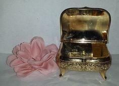 Vintage Victorian Styled Gold Tone Trinket Music by JunkYardBlonde