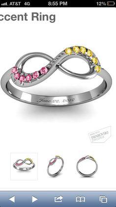 Our anniversary and birth stones ring! Presh!! :)