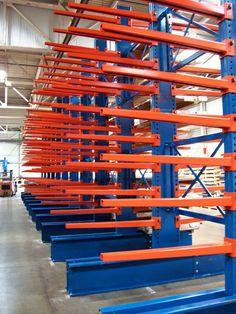 Pallet Storage, Tool Storage, Diy Storage, Storage Shelves, Storage Spaces, Industrial Led Lighting, Cantilever Racks, Steel Storage Rack, Store Layout