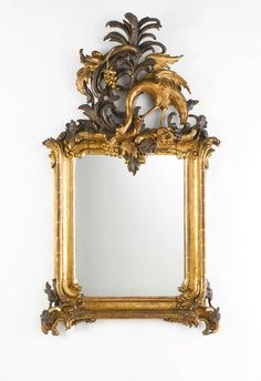 Important Royal German Rococo Mirror, Circa 1745-1755 | From a unique collection of antique and modern wall mirrors at http://www.1stdibs.com/furniture/mirrors/wall-mirrors/